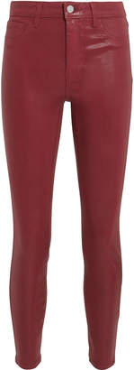 L'Agence Margot Berry Coated High-Rise Ankle Skinny Jeans