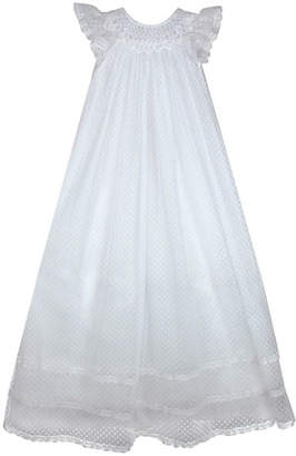 Isabel Garreton Smocked Swiss Dot Christening Gown, Size 3-6 Months