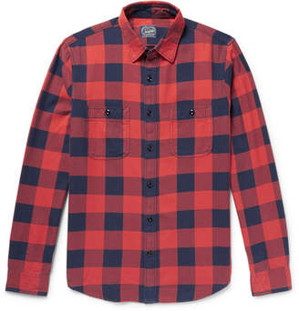 J.Crew Slim-Fit Buffalo-Checked Cotton-Flannel Shirt