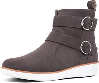 8681bf8bf16c at FitFlop · FitFlop Oona Buckle Suede Ankle Boots