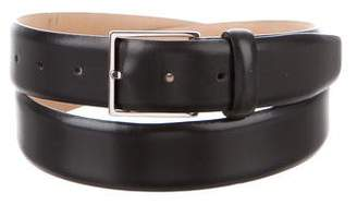 Loro Piana Square Buckle Leather Belt