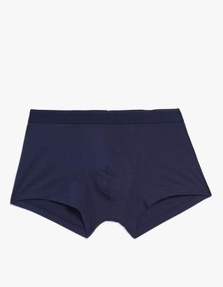 Premium Stretch Cotton Low Waist Trunk in Navy $45 thestylecure.com