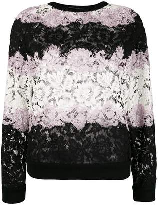Valentino Lace applique stripe sweater