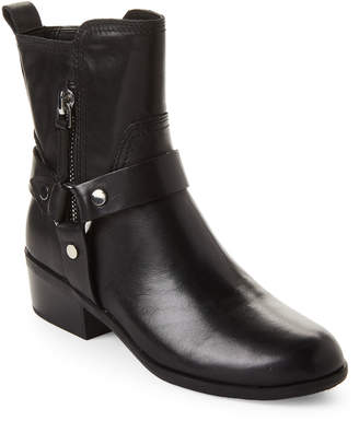 Marc Fisher Black Dalary Harness Leather Short Boots
