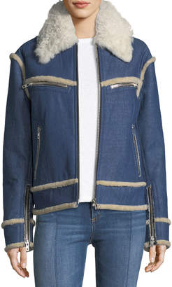 Rag & Bone Andrew Shearling and Denim Jacket