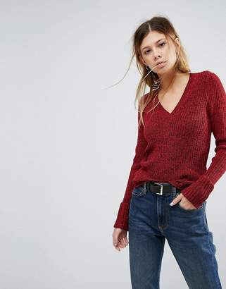 Asos Sweater with Shoulder Pads and V Neck
