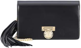 Balmain BBox Mini leather clutch