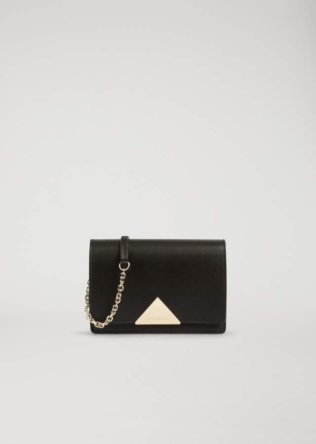 EMPORIO ARMANI smooth leather cross-body bag