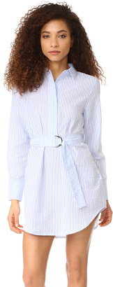MinkPink Stripe Caftan Shirtdress