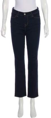 L'Agence Mid-Rise Straight-Leg Jeans