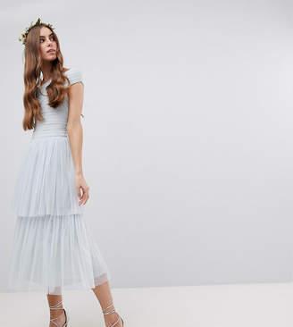 Maya Tall Premium Tulle Layered Midi Bridesmaid Skirt