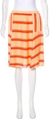 Ella Moss Striped Knee-Length Skirt