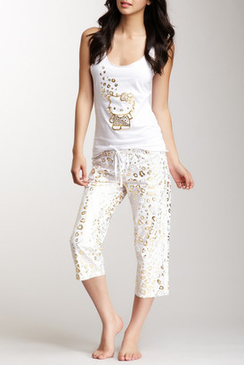 Hello Kitty Capri Pajama Pant $28 thestylecure.com