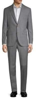 Jack Victor Classic Fit Esprit Windowpane Wool Suit