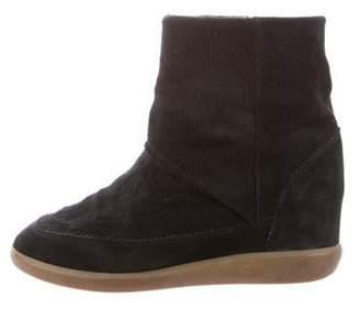 Isabel Marant Ponyhair Wedge Boots