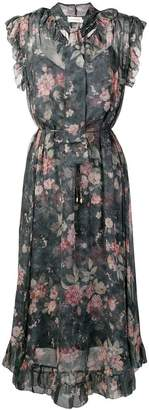 Zimmermann floral print tie neck dress