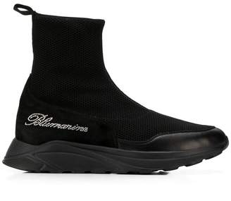 Blumarine crystal logo sock sneakers