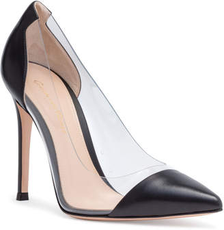 Gianvito Rossi Plexi 105 Black Leather Pumps