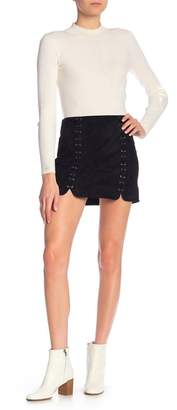Tractr Faux Suede Mini Skirt