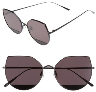 Women's Gentle Monster Song Of Style 57Mm Butterfly Sunglasses - Matte Black/ Black $260 thestylecure.com