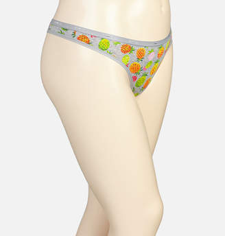 Avenue Pineapple Mix Cotton Thong Panty