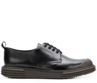 Prada rubber sole lace-up shoes