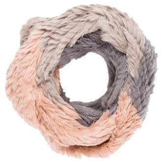 Jocelyn Knit Fur Infinity Scarf
