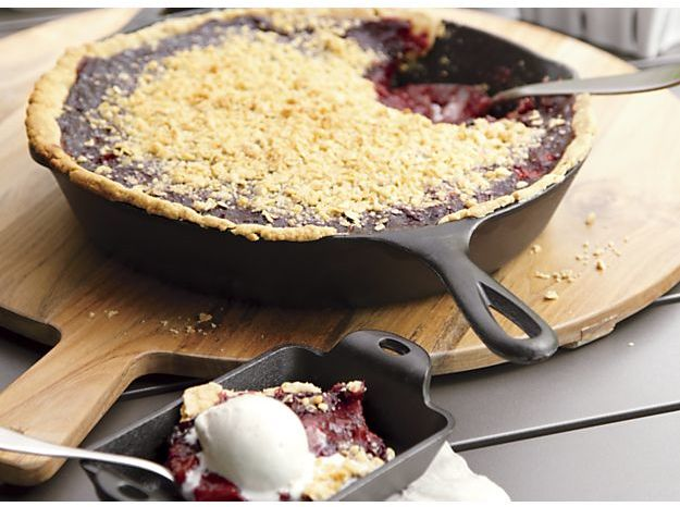 "Crate & Barrel Lodge ® Cast Iron 12"" Skillet"