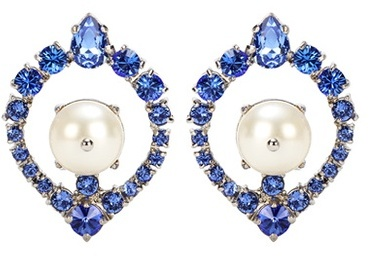 Miu Miu Miu Miu Crystal clip-on earrings