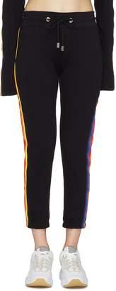 Abracada Bra GCDS 'Abracadabra' stripe outseam Chenille patch sweatpants