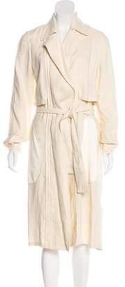 The Row Linen-Blend Long Coat
