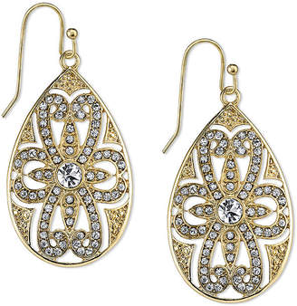 JCPenney 1928 Jewelry Crystal Filigree Pear-Shaped Drop Earrings