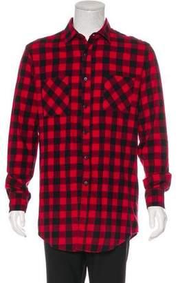 Fear Of God Plaid Button-Up Shirt
