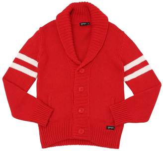 Blend of America Wool Knit Cardigan W/ Stripes