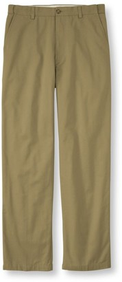 L.L. Bean L.L.Bean Men's Lined Double LA Chinos, Natural Fit Hidden Comfort Waist Plain Front