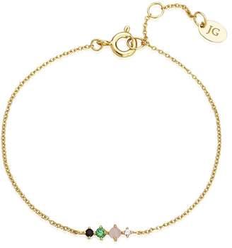 07896b06f John Greed Desert Gold Plated Silver Green CZ Bracelet