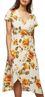Miss Selfridge Floral Tie-Waist Midi Dress