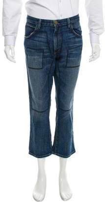 Current/Elliott + Marni Cropped Straight-Leg Jeans