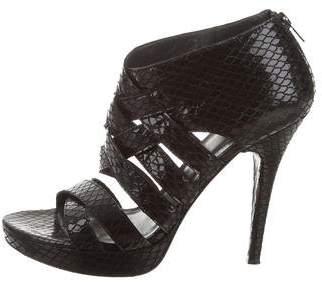 Stuart Weitzman Caged Platform Sandals
