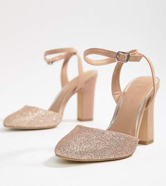 9f41fc1100d3 New Look Wide Fit Glitter Block Heeled Shoe