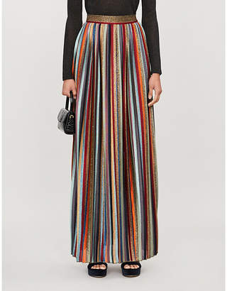 Missoni Striped high-waist woven maxi skirt