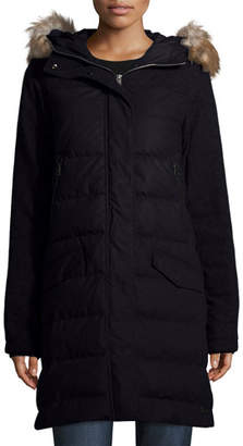 Sorel Tivoli Quilted-Puffer Long Jacket w/ Faux Fur