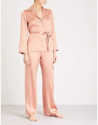 Marjolaine Soie Unie silk-satin pyjama set