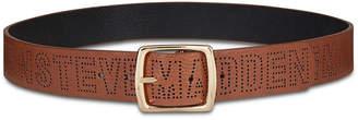 Steve Madden Perforated Logo Pants Belt