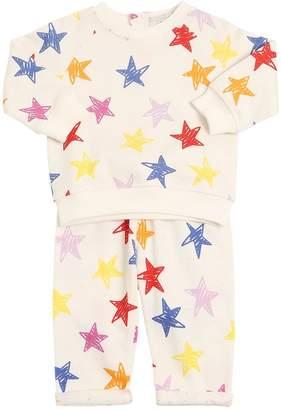 Stella McCartney Stars Printed Cotton Fleece Sweat & Pant