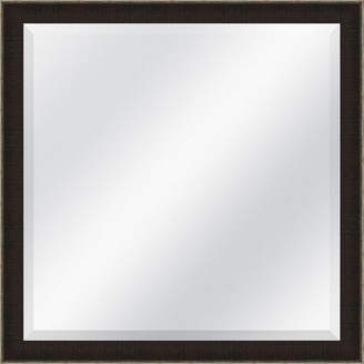 Asstd National Brand Textured Brown and Silver Beveled Plate Square Mirror