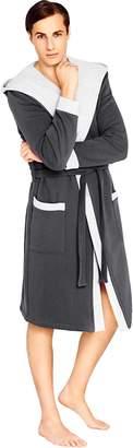Wanmar Company Men SOFT Bath Robe Hooded Dressing Gown Bathrobe Housecoat