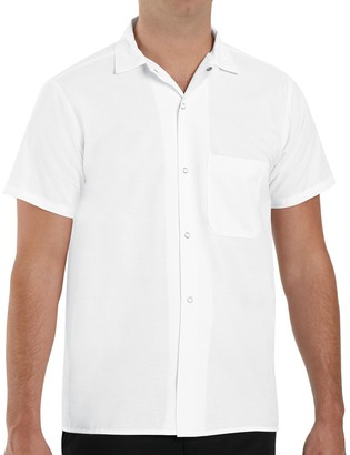 Red Kap Men's Classic-Fit Button-Down Pocket Cook Shirt