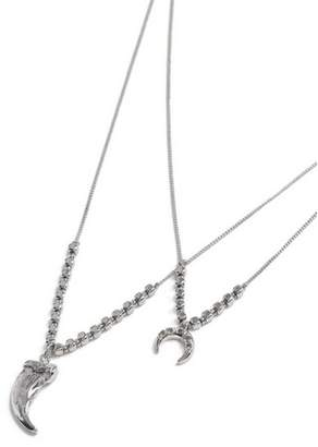 Topman Mens Silver Multirow Necklace*
