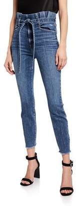 Alice + Olivia JEANS Good Paperbag Waist Skinny Jeans